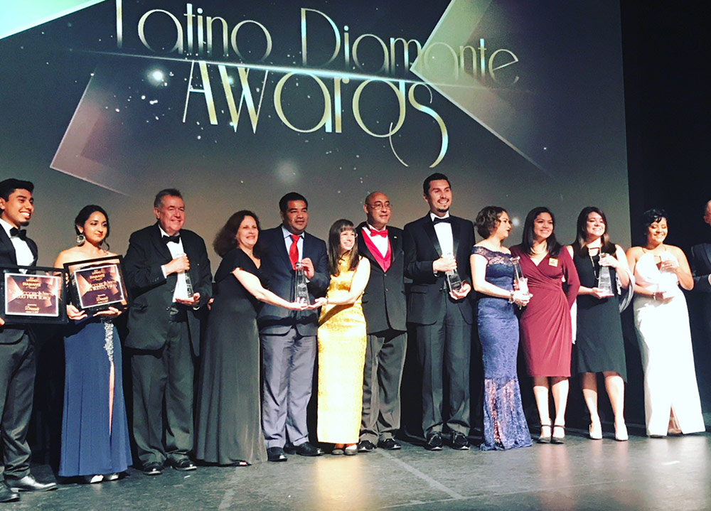 CareNet's Camila Pulgar receives Diamante Award for her commitment to the Latino community.