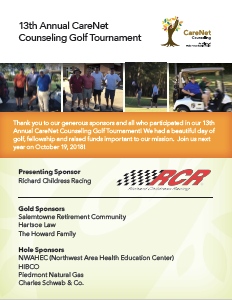 CareNet 13th Annual Golf Tournament Flyer